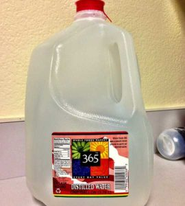 Bottle of 365 Every Day Value Distilled Water