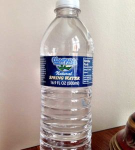 Bottle of Absopure Natural Spring Water