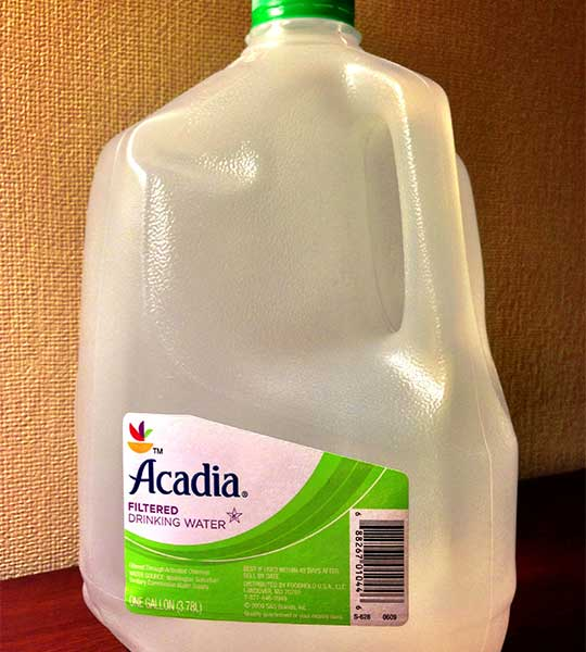 Bottle of Acadia Filtered Drinking Water