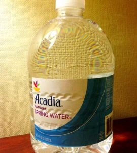 Bottle of Acadia Natural Spring Water