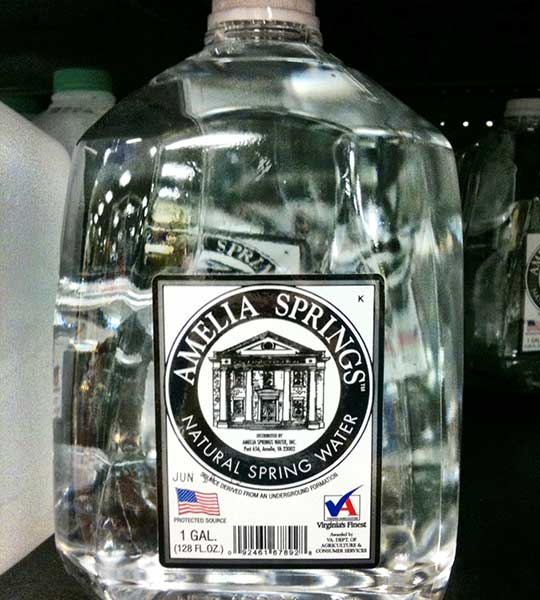 Amelia Springs Natural Spring Water Bottled Waters