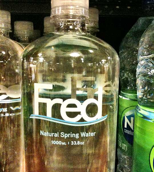 Fred Natural Spring Water Bottled Waters Aquagrade