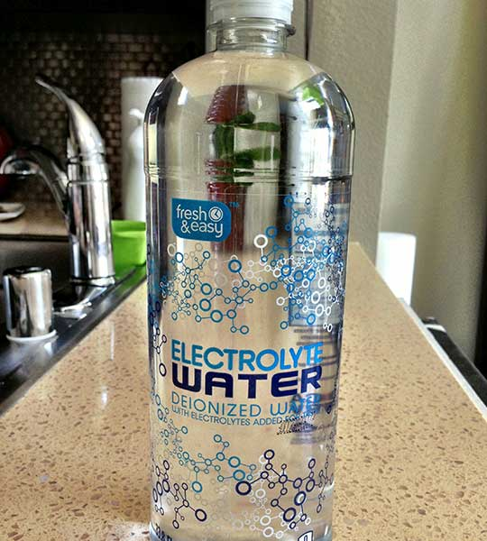 Fresh And Easy Electrolyte Water Bottled Waters
